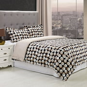 Superior Monroe Reversible 300 Thread Count Cotton Reactive Print Duvet Cover Set