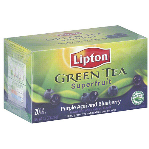 Lipton Purple Acai And Blueberry Green Tea, 20ct (Pack of 6)