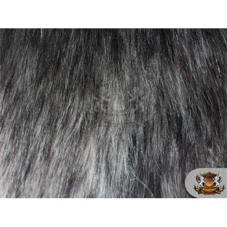 Faux Fur Long Pile ALASKAN HUSKIES Grey Fabric / 58