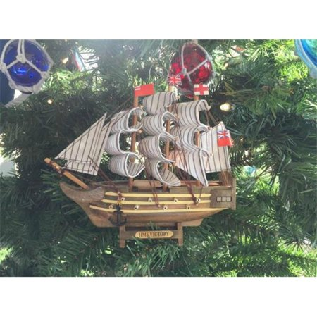 Hms Victory Gift Set - Handcrafted Model Ships Victory-7-XMASS Wooden HMS Victory Model Ship Christmas Tree Ornament