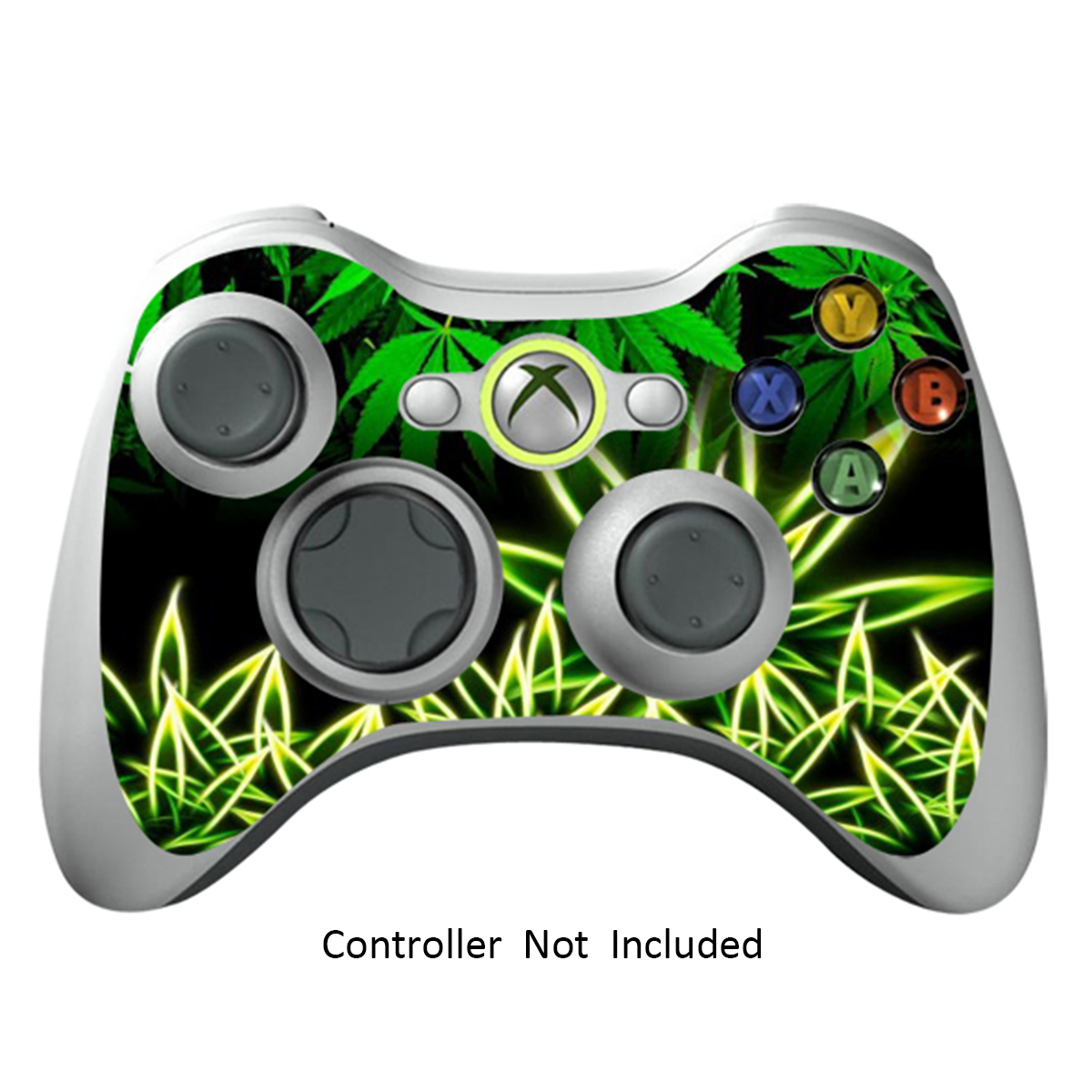 Skin Stickers for Xbox 360 Controller - Vinyl Leather Texture Sticker for X360 Slim Wired Wireless Game Controllers - Protectors Stickers Controller - Weeds Black