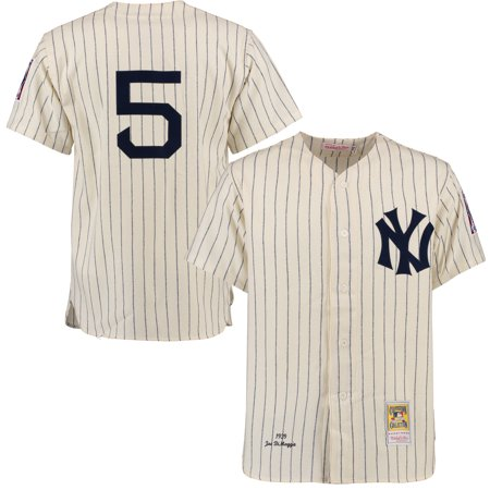 Joe DiMaggio New York Yankees Mitchell   Ness Throwback Authentic Jersey -  Cream - Walmart.com afd251f9ab4