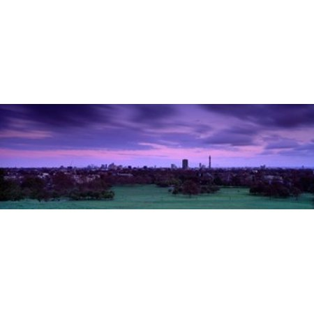 Building In A City Near A Park Primrose Hill London England United Kingdom Canvas Art - Panoramic Images (18 x