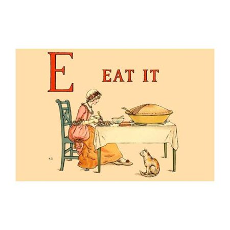 E Eat It Print (Black Framed Poster Print 20x30)