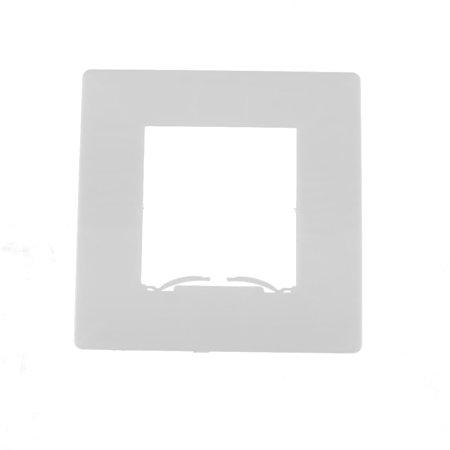 Plastic Square Shaped Home Wall Socket Protector Light Switch Cover Plate White