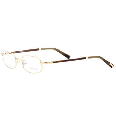 Tom Ford Mens FT5219-028 Eyeglasses Shiney Gold Rectangle Frames ...