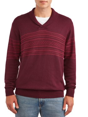 George Men's Geo-Jacquard Sweater, up to size 3XL