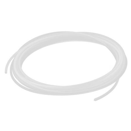 4mm x 2.5mm polyurethane pneumatic  pu air tube tubing pipe clear white 6m long