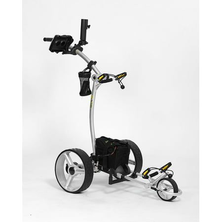 Bat Caddy X4R Electric Golf Bag Cart Silver w/ 20Ah Lithium Battery &