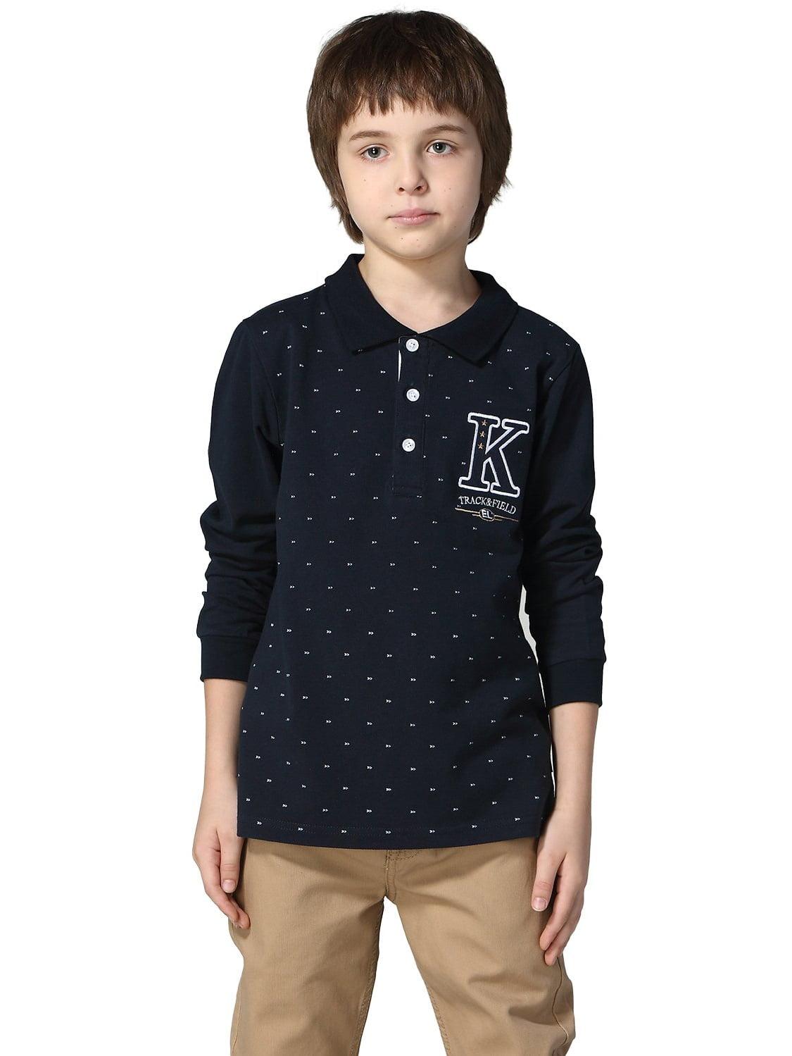 Leo&Lily Boys Long Sleeves Print Polo Shirts T-Shirt