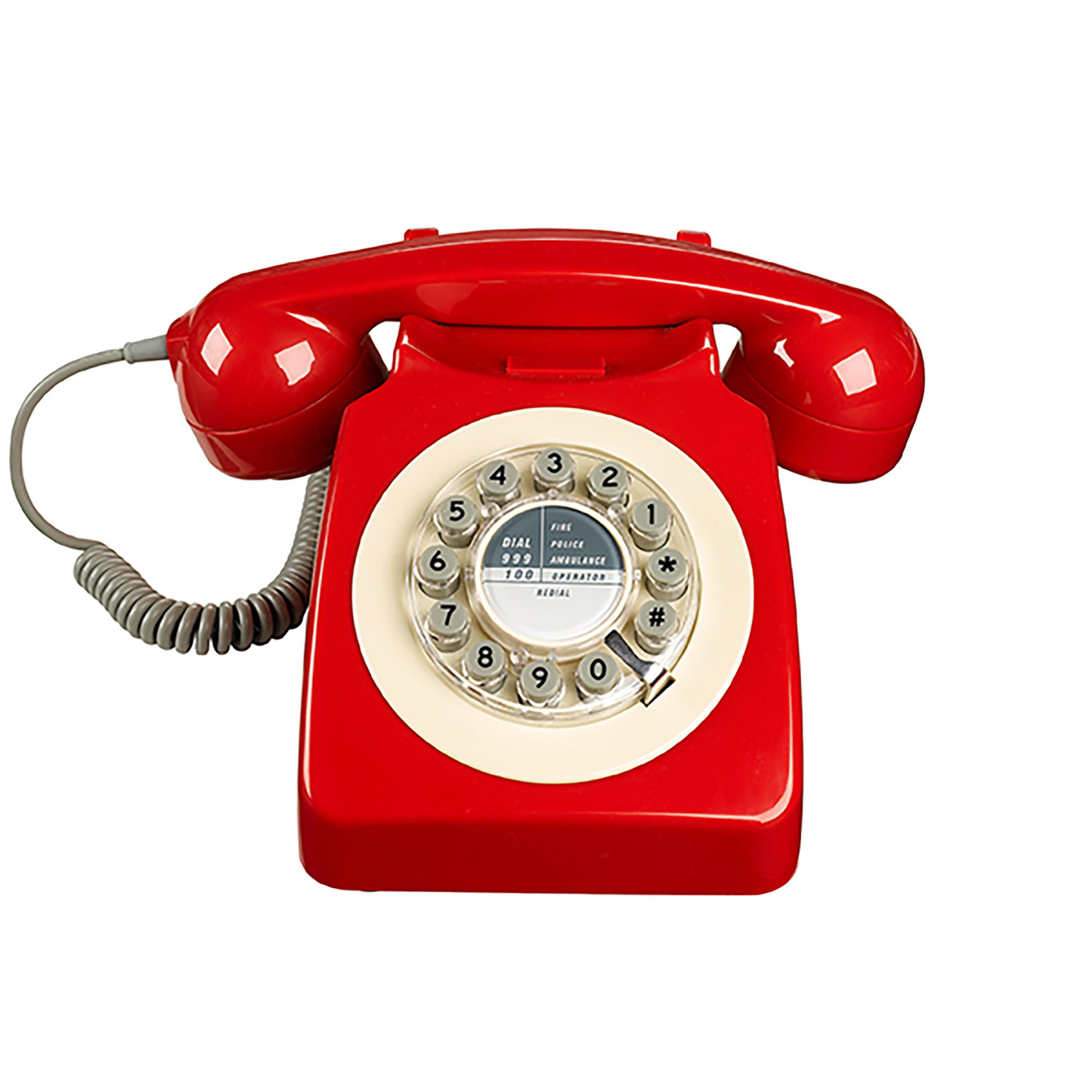 Retro 746 Series Rotary Corded Landline Phone