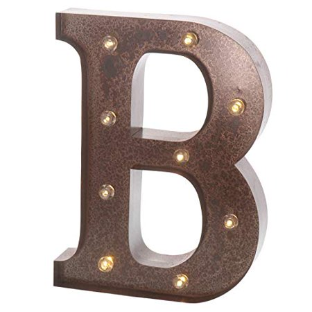 Barnyard Designs Metal Marquee Letter B Light Up Wall Initial Wedding, Home and Bar Decoration 12