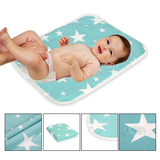 Waterproof Portable Changing Pad for Baby/Children/ Adults-Good for Home Use and Travel Needs/Bed Protector by Dazone