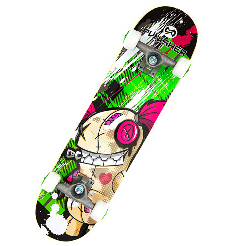 "Punisher Skateboards 31"" ABEC-3 Complete Skateboard, Jinx"