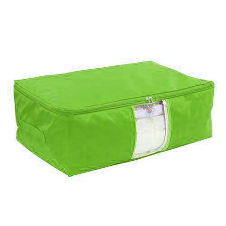 Blanket Pillows Quilts Clothes Storage Bag Container Organizer Green 50x35x20cm