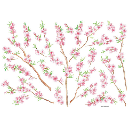 Brewster Home Fashions Euro Peach Branch Wall Decal