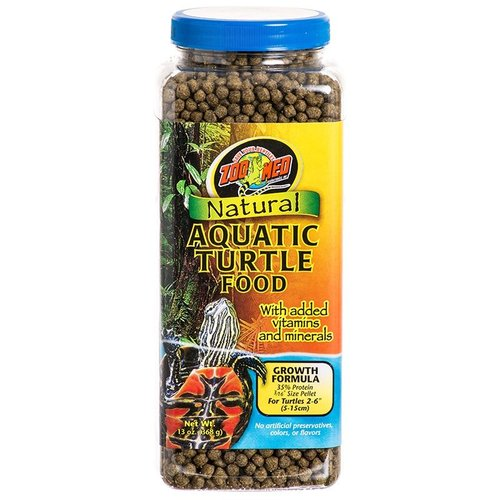 Zoo Med Natural Aquatic Turtle Food - Growth Formula 13 Ounce