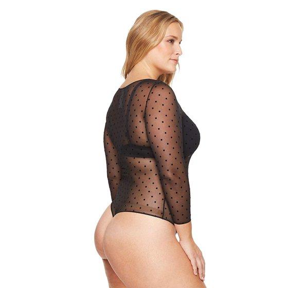 0852a66d81145 Assets Spanx - Assets Spanx Women Sheer Mesh Long-Sleeve Thong ...