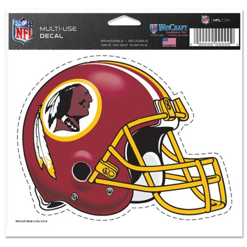 Washington Redskins Official NFL 4 inch x 6 inch  Car Window Cling Decal by Wincraft