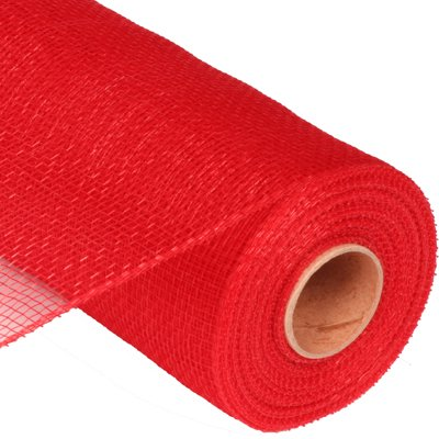 Red Solid 21 inch x 10 yards Deco Mesh Wreath Ribbon Roll