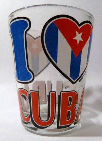 Cuba I Love Cuba Shot Glass by World By Shotglass