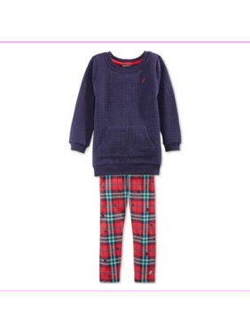 Nautica Little Girls 2-Piece Sweater and Leggings Set, Navy, Size 2R, MSRP $49.5