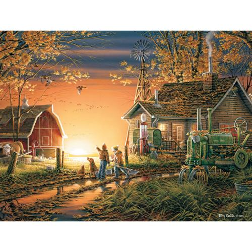 """Jigsaw Puzzle Terry Redlin 1000 Pieces 24""""X30""""-Morning Surprise"""