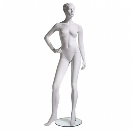 Econoco MGFH-3 Female Mannequin - Molded Hair, Right Hand On Hip, Right Leg to Side - image 1 de 1
