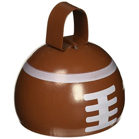 Football Favors (Beistle 60945 1-Pack Football Cowbell for Party Favors,)