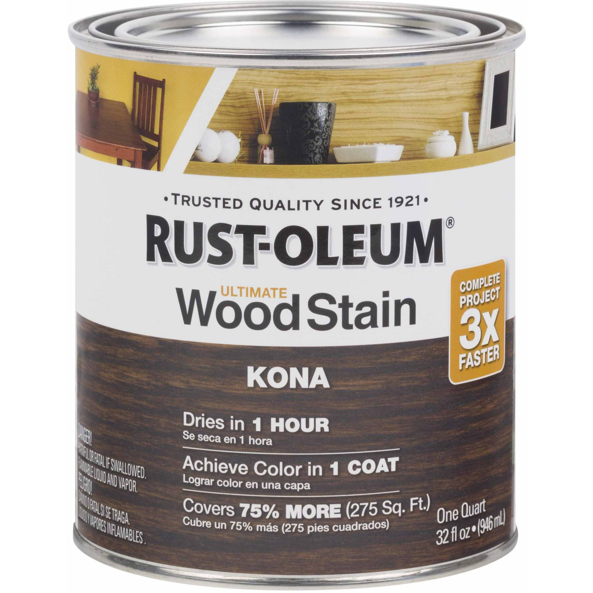 Rust-Oleum Ultimate Wood Stain Quart, Kona