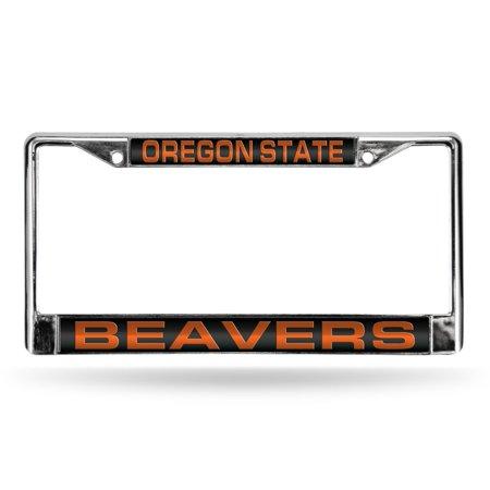 Rico Industries NCAA Oregon State Laser Chrome Frame Black Insert