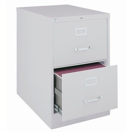 2500 Series 25 Inch Deep 2 Drawer Legal Size Vertical File Cabinet Light Gray