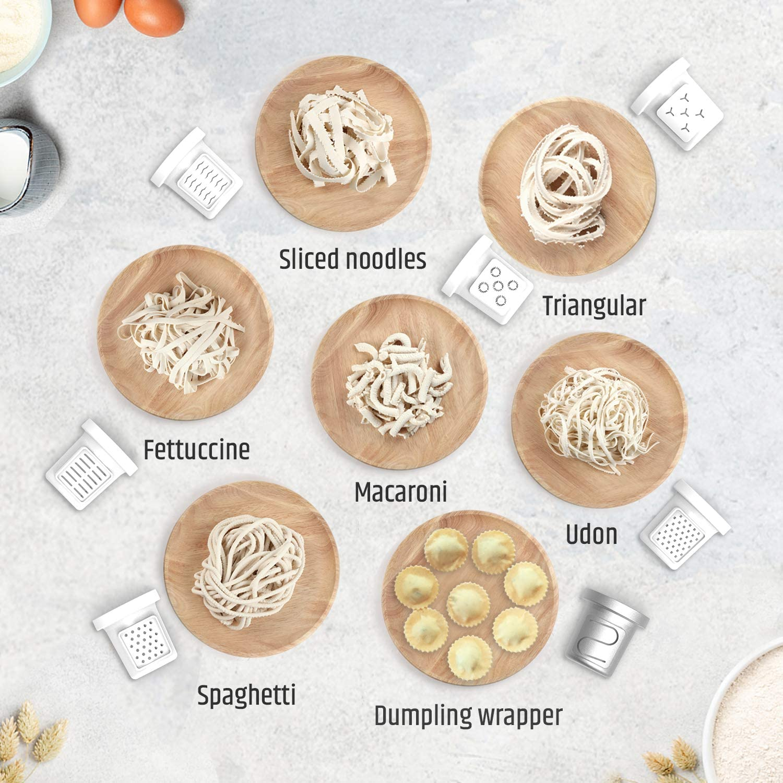 Razorri Electric Pasta Maker 13 Moulds Ramen Noodle Maker Spaghetti Penne 260W