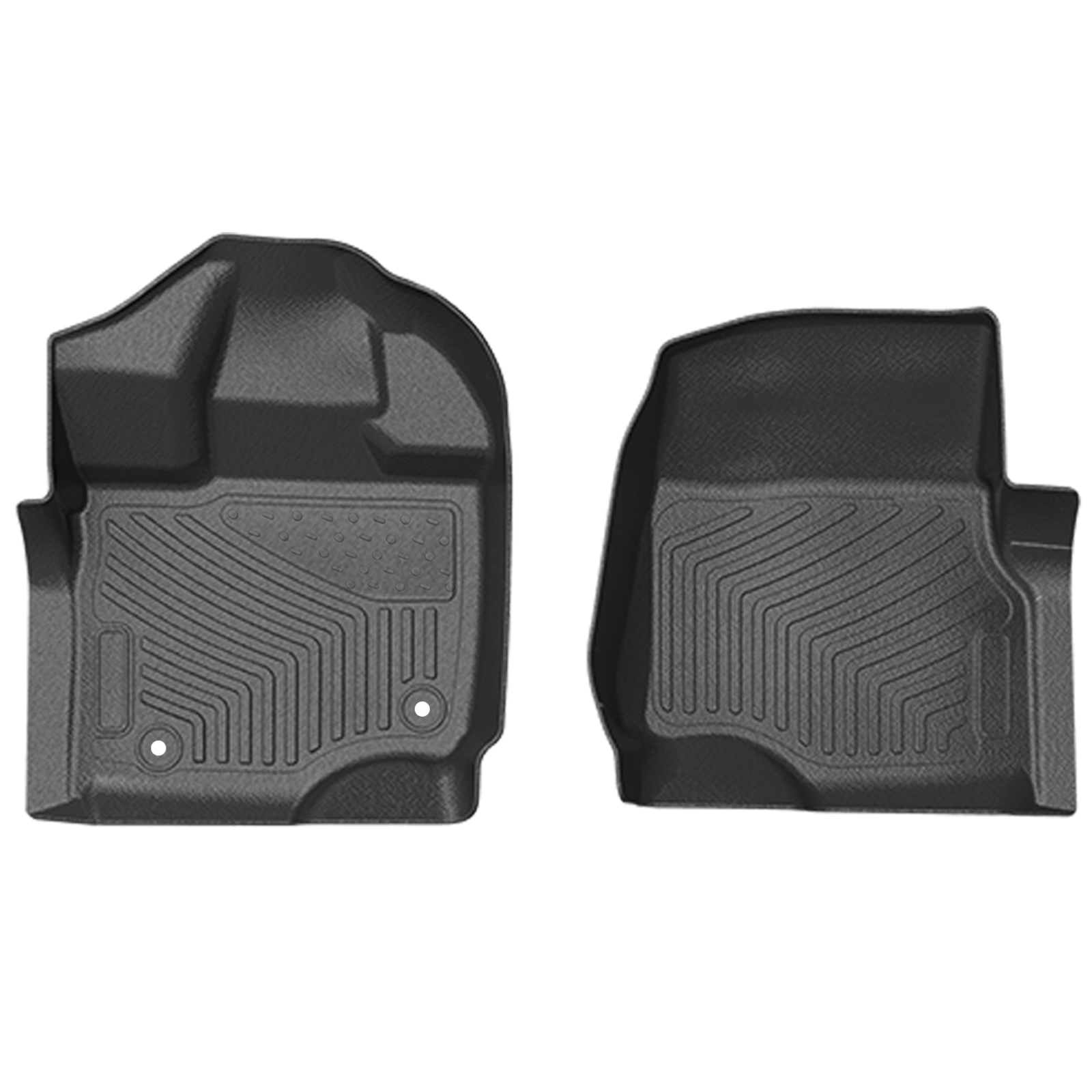 ToughPRO Heavy Duty Black Rubber For 2015-2019 Ford F-150 Super Cab Floor Mats