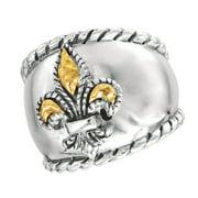 Phillip Gavriel 18k Gold & Sterling Silver Ring, Size 7