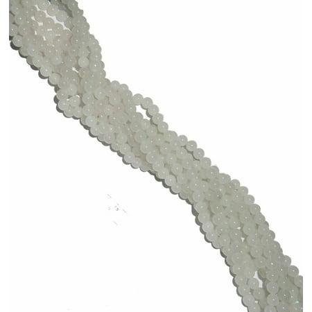 Russian Jade Round Beads (4mm Snow Jade Round, Loose Beads, 40cm 15 inch Gemstone)