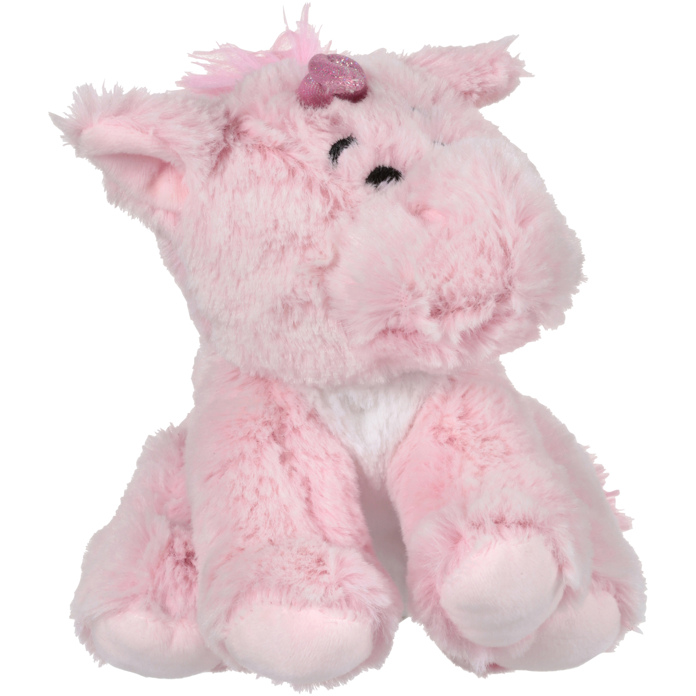 "Kellytoy® Wags and Purrs™ 7"" Two Tone Unicorn with Squeaker Pet Toy"