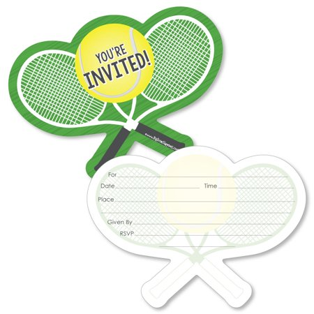 You Got Served - Tennis - Shaped Fill-In Invitations - Baby Shower or Tennis Ball Birthday Party Invitation-12 Ct](60 Birthday Invitations)