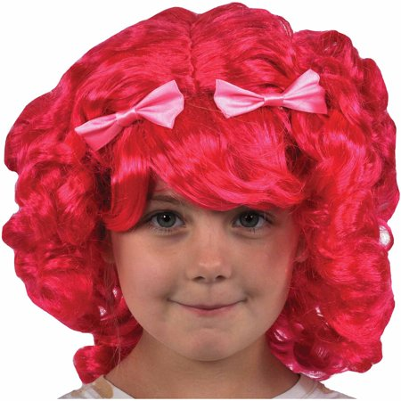 pink lalaloopsy tumblelina wig child halloween costume