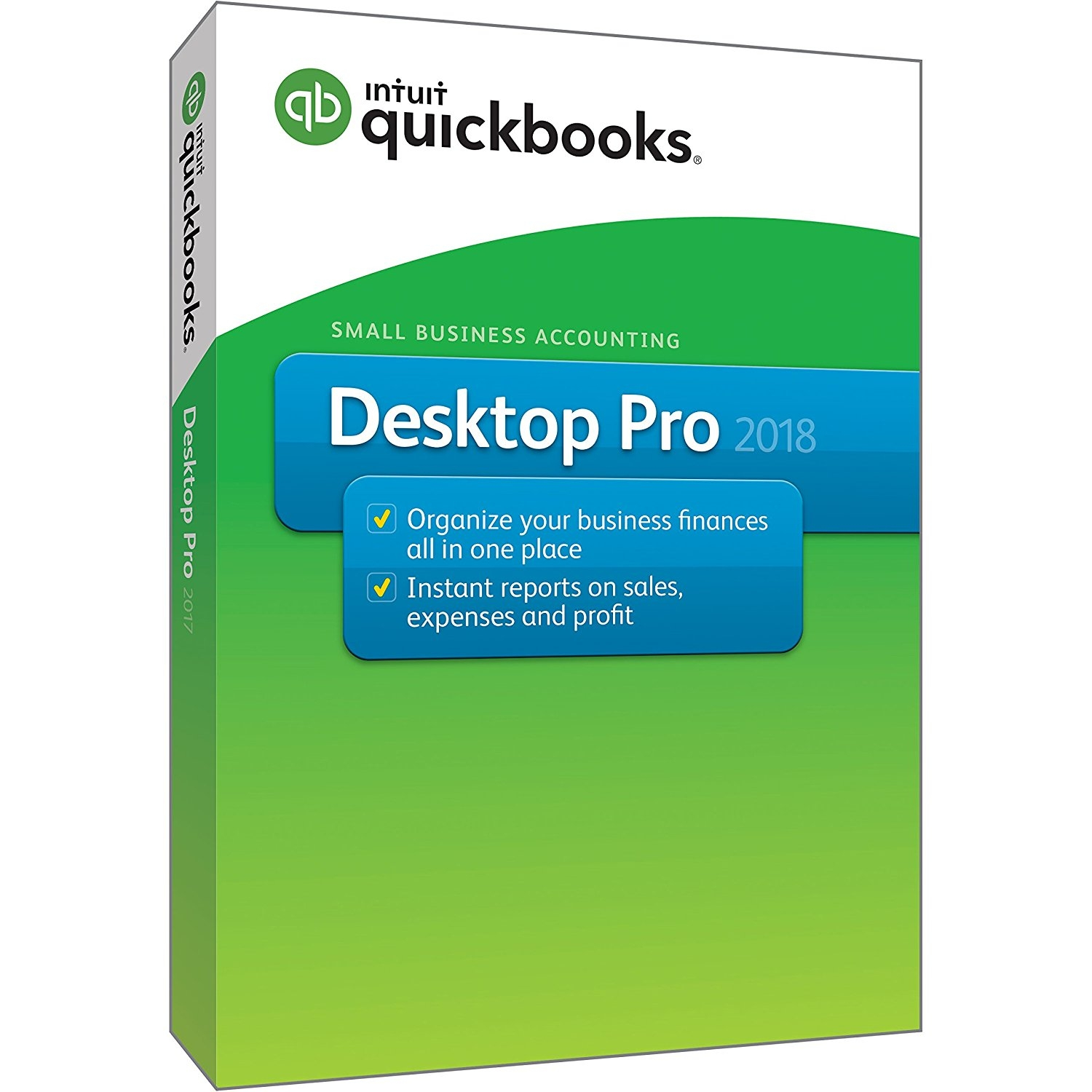 Intuit QuickBooks Desktop Pro 2018 Small Business Accounting Software [PC Disc] Windows US Edition