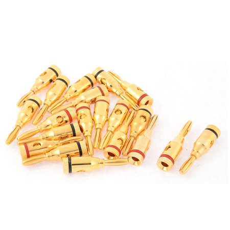 20pcs Metal Female Thread Type Audio Speaker Wire Banana Plug Connector Coupler (Female Threaded Connectors)