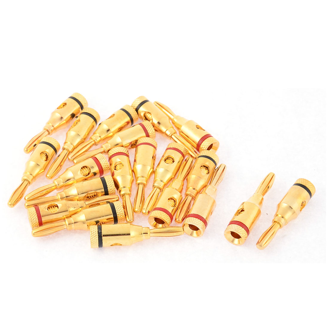 20pcs Metal Female Thread Type Audio Speaker Wire Banana Plug Connector Coupler