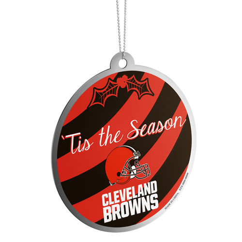 Cleveland Browns Metal Season Ball Ornament