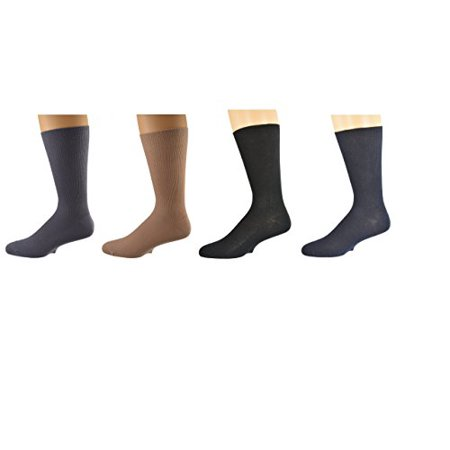 Sierra Socks 100% Diabetic Cotton True Rib Men Crew Smooth Toe Socks M11 2334
