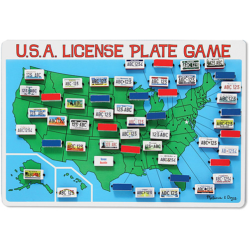 Melissa Doug Flip to Win Travel License Plate Game Wooden US