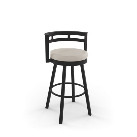 Amisco Render 26 Inch Swivel Metal Counter Stool