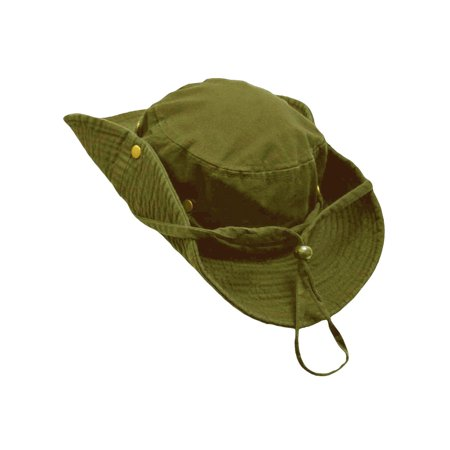 Safari Style Cotton Hat With Chin Cord & Side Snaps (Safari Hats For Kids)
