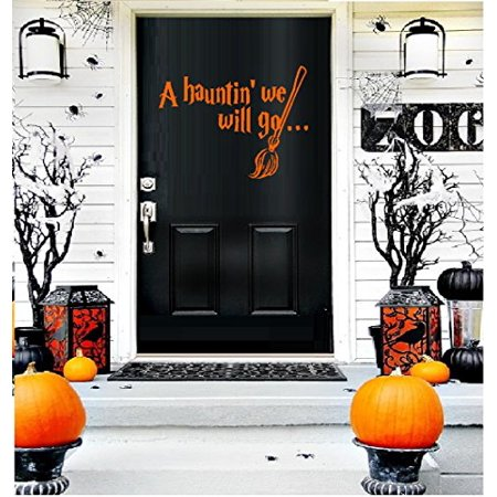 HALLOWEEN ~ A HAUNTIN' WE WILL GO ~ HALLOWEEN: WALL OR WINDOW DECAL, HOME DECOR 9