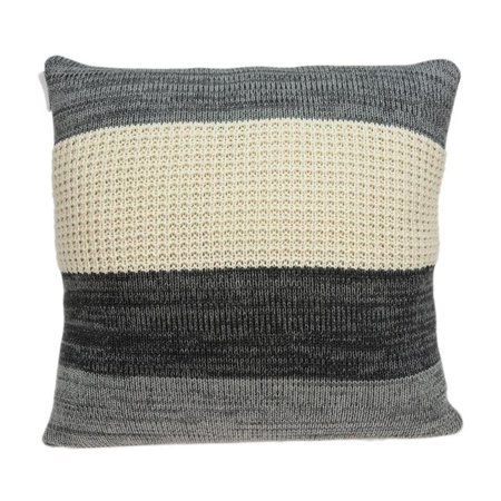 Parkland Collection PILB11043P Gio Grey & Tan Square Transitional Pillow Cover with Poly Insert - 20 x 20 x 7 in. - image 1 de 1