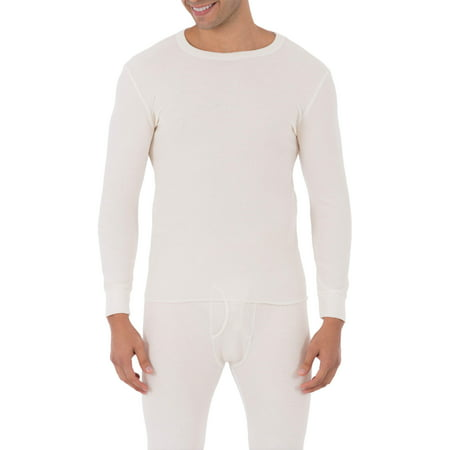 Fruit of The loom Men's Soft Waffle Waffle Baselayer Crew Neck Top Thermal underwear for Men Base Layer Neck Tube
